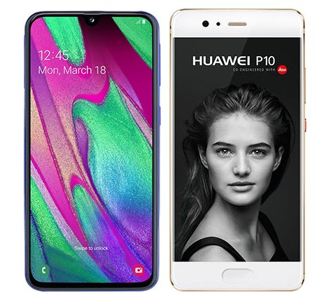 Smartphone Comparison: Samsung galaxy a40 vs Huawei p10