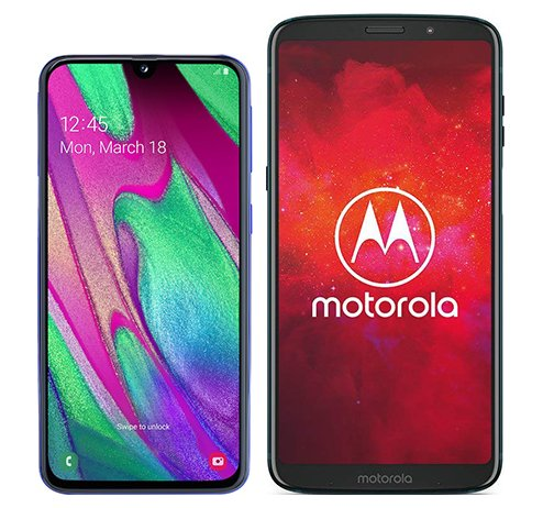 Smartphone Comparison: Samsung galaxy a40 vs Motorola moto z3 play