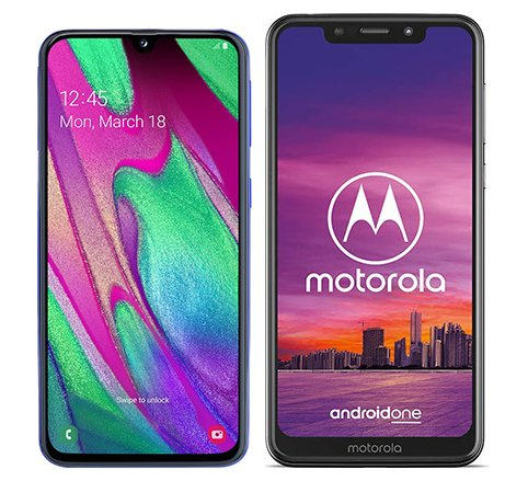 Smartphone Comparison: Samsung galaxy a40 vs Motorola one