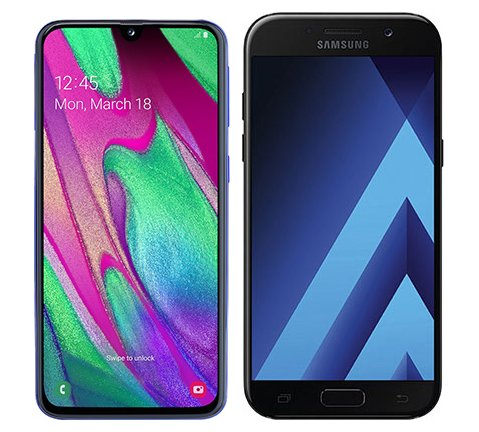 Smartphone Comparison: Samsung galaxy a40 vs Samsung galaxy a5 2017