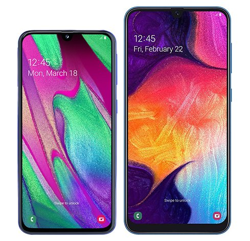 Smartphone Comparison: Samsung galaxy a40 vs Samsung galaxy a50