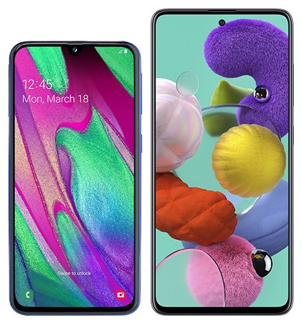 Smartphone Comparison: Samsung galaxy a40 vs Samsung galaxy a51
