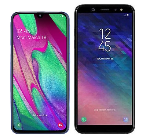 Smartphone Comparison: Samsung galaxy a40 vs Samsung galaxy a6