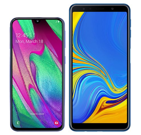Smartphone Comparison: Samsung galaxy a40 vs Samsung galaxy a7 2018