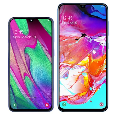 Smartphone Comparison: Samsung galaxy a40 vs Samsung galaxy a70