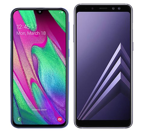 Smartphone Comparison: Samsung galaxy a40 vs Samsung galaxy a8