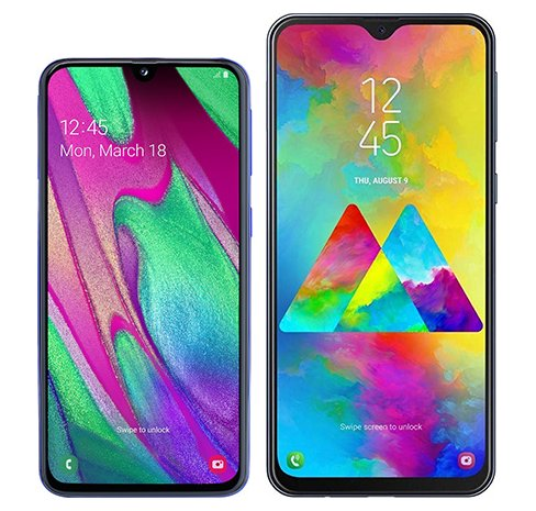 Smartphone Comparison: Samsung galaxy a40 vs Samsung galaxy m20