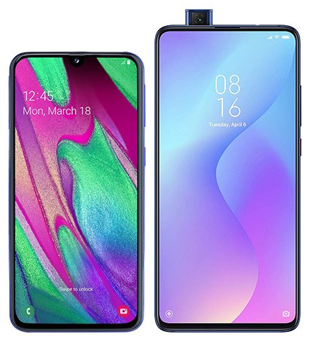 Smartphone Comparison: Samsung galaxy a40 vs Xiaomi mi 9t