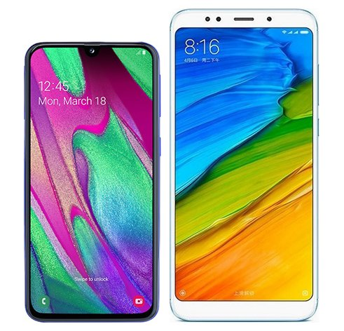 Smartphone Comparison: Samsung galaxy a40 vs Xiaomi redmi 5 plus