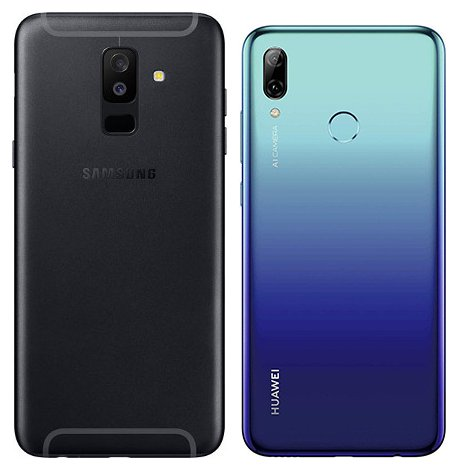 compare smartphones samsung galaxy a6 plus vs huawei p. Black Bedroom Furniture Sets. Home Design Ideas