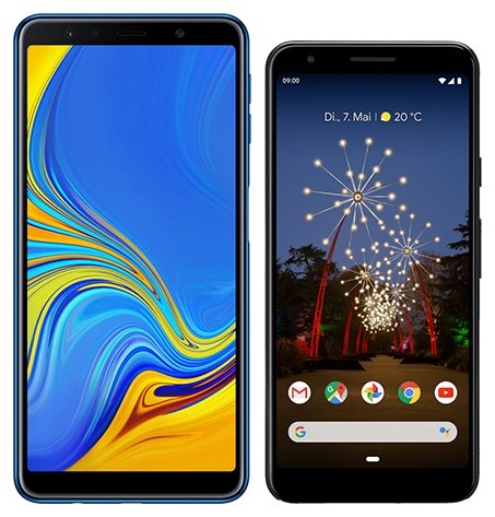 Smartphone Comparison: Samsung galaxy a7 2018 vs Google pixel 3a