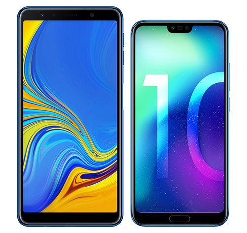 Smartphone Comparison: Samsung galaxy a7 2018 vs Honor 10