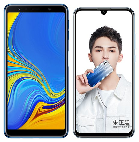 Smartphone Comparison: Samsung galaxy a7 2018 vs Honor 10 lite