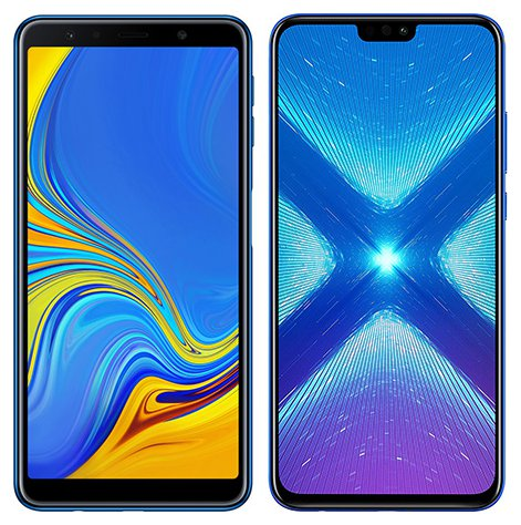 Smartphone Comparison: Samsung galaxy a7 2018 vs Honor 8x