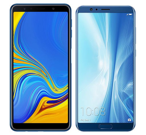 Smartphone Comparison: Samsung galaxy a7 2018 vs Honor view 10