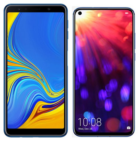 Smartphone Comparison: Samsung galaxy a7 2018 vs Honor view 20