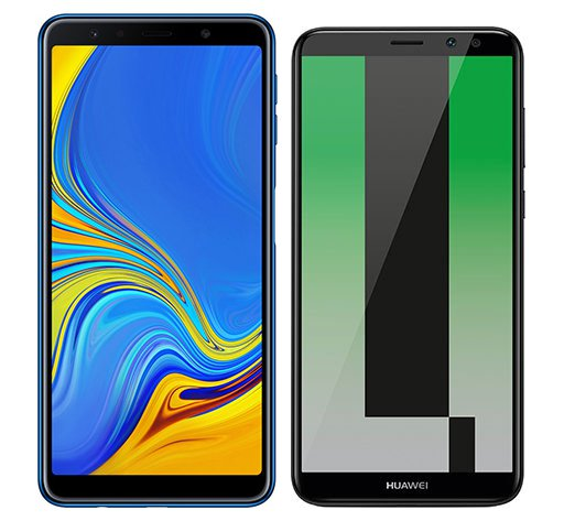 Smartphone Comparison: Samsung galaxy a7 2018 vs Huawei mate 10 lite