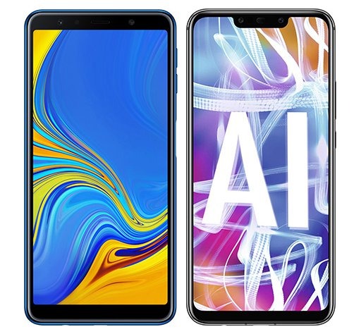 Smartphone Comparison: Samsung galaxy a7 2018 vs Huawei mate 20 lite