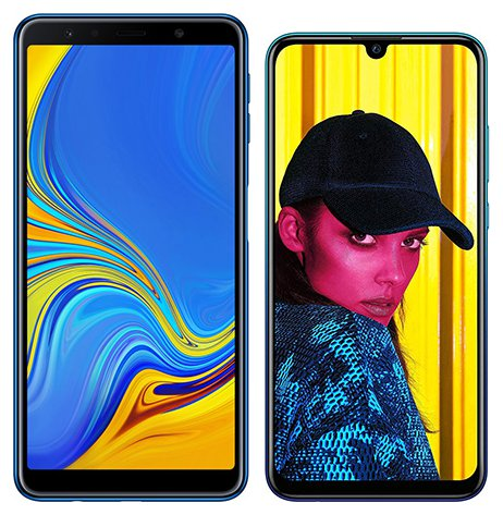 Smartphone Comparison: Samsung galaxy a7 2018 vs Huawei p smart 2019