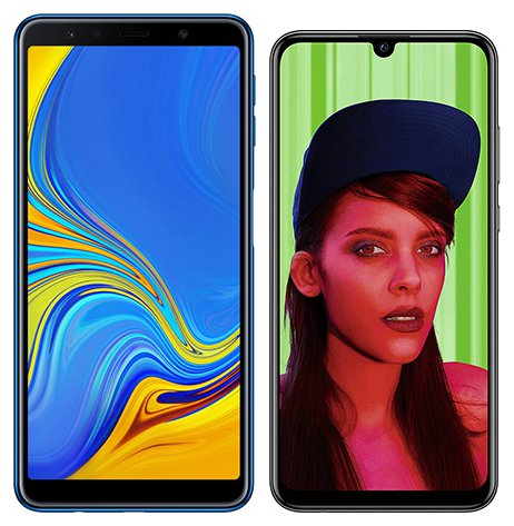 Smartphone Comparison: Samsung galaxy a7 2018 vs Huawei p smart plus 2019