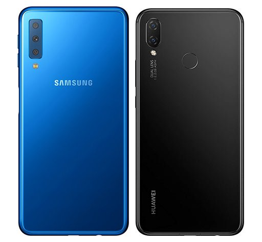 compare smartphones samsung galaxy a7 2018 vs huawei p. Black Bedroom Furniture Sets. Home Design Ideas