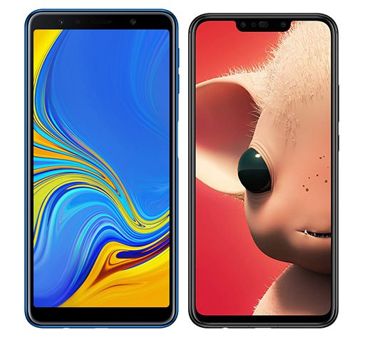 Smartphone Comparison: Samsung galaxy a7 2018 vs Huawei p smart plus