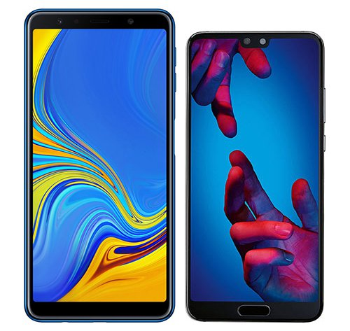 Smartphone Comparison: Samsung galaxy a7 2018 vs Huawei p20
