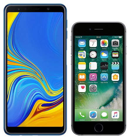 Smartphone Comparison: Samsung galaxy a7 2018 vs Iphone 6s