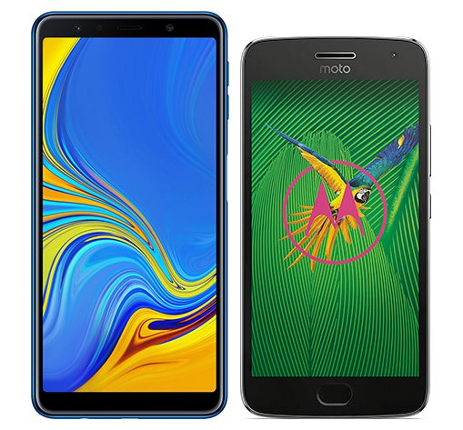 Smartphone Comparison: Samsung galaxy a7 2018 vs Motorola moto g5 plus