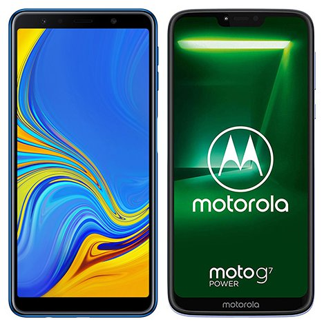 Smartphone Comparison: Samsung galaxy a7 2018 vs Motorola moto g7 power