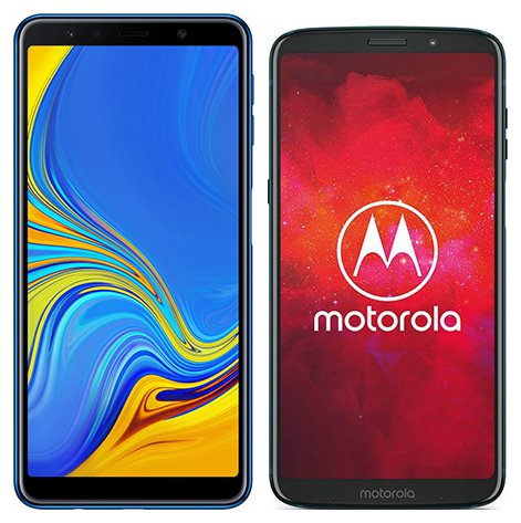 Smartphone Comparison: Samsung galaxy a7 2018 vs Motorola moto z3 play