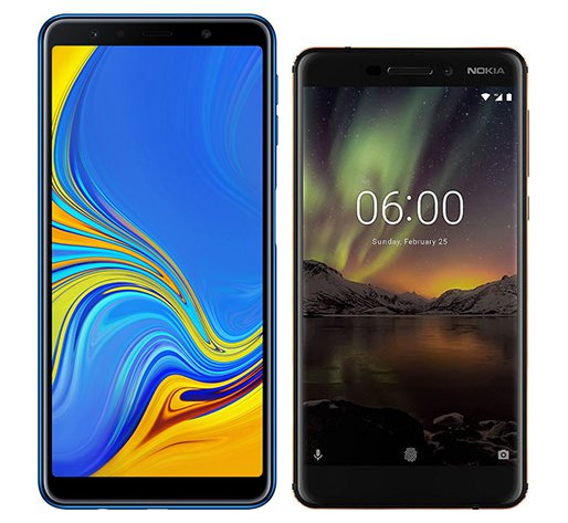 Smartphone Comparison: Samsung galaxy a7 2018 vs Nokia 6 1