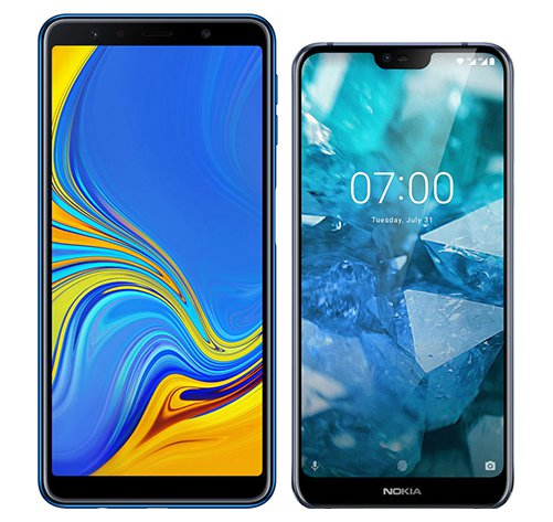 Smartphone Comparison: Samsung galaxy a7 2018 vs Nokia 7 1