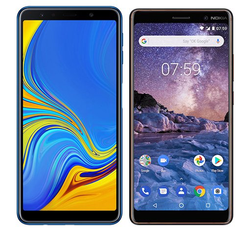 Smartphone Comparison: Samsung galaxy a7 2018 vs Nokia 7 plus