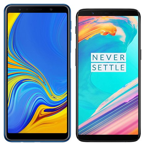 Smartphone Comparison: Samsung galaxy a7 2018 vs One plus 5t