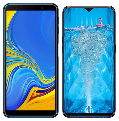 Smartphone Comparison: Samsung galaxy a7 2018 vs Oppo f9 pro