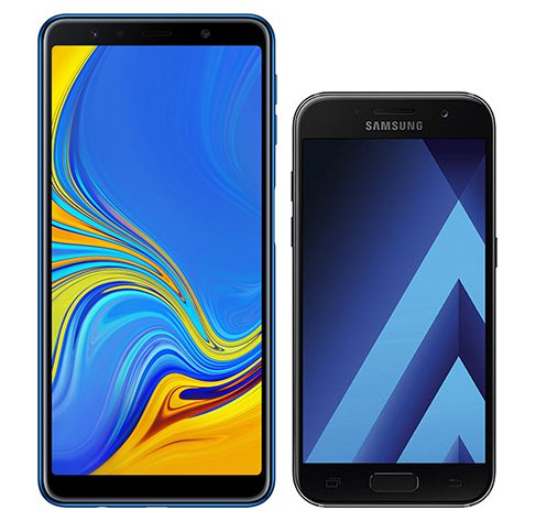 Smartphone Comparison: Samsung galaxy a7 2018 vs Samsung galaxy a3 2017