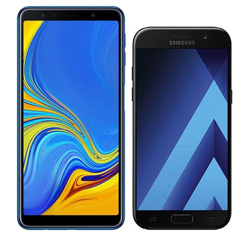 Smartphone Comparison: Samsung galaxy a7 2018 vs Samsung galaxy a5 2017