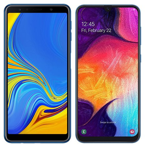 Smartphone Comparison: Samsung galaxy a7 2018 vs Samsung galaxy a50