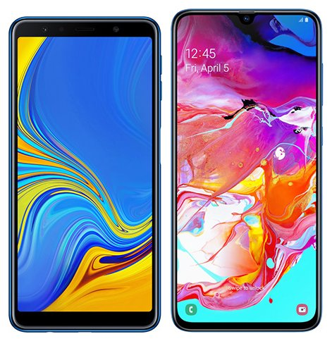 Smartphone Comparison: Samsung galaxy a7 2018 vs Samsung galaxy a70