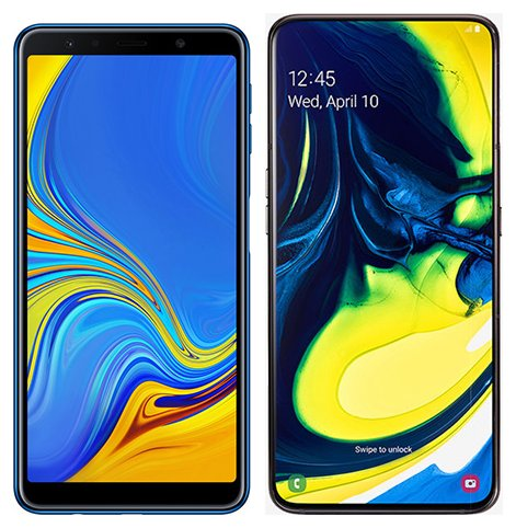 Smartphone Comparison: Samsung galaxy a7 2018 vs Samsung galaxy a80