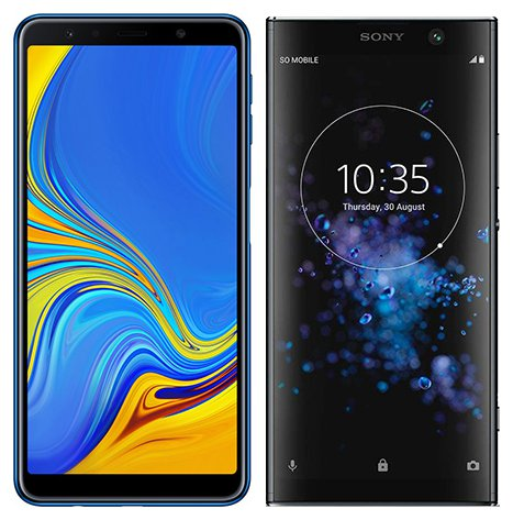 Smartphone Comparison: Samsung galaxy a7 2018 vs Sony xperia xa2 plus