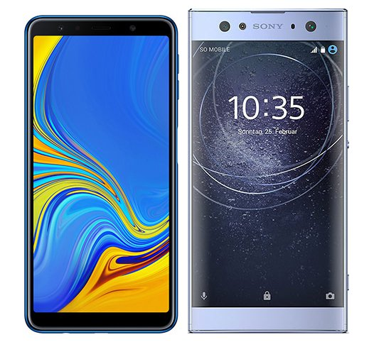 Smartphone Comparison: Samsung galaxy a7 2018 vs Sony xperia xa2 ultra