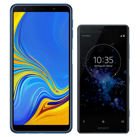 Smartphonevergleich: Samsung galaxy a7 2018 oder Sony xperia xz2 compact