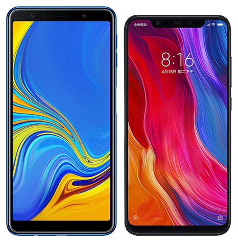 Smartphone Comparison: Samsung galaxy a7 2018 vs Xiaomi mi 8