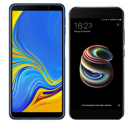 Smartphone Comparison: Samsung galaxy a7 2018 vs Xiaomi mi a1
