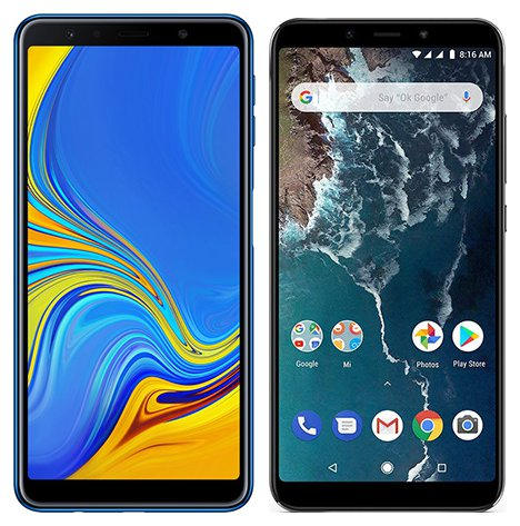 Smartphone Comparison: Samsung galaxy a7 2018 vs Xiaomi mi a2