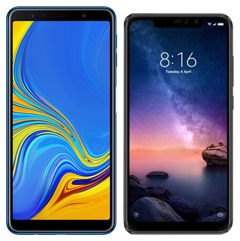 Smartphone Comparison: Samsung galaxy a7 2018 vs Xiaomi redmi note 6 pro