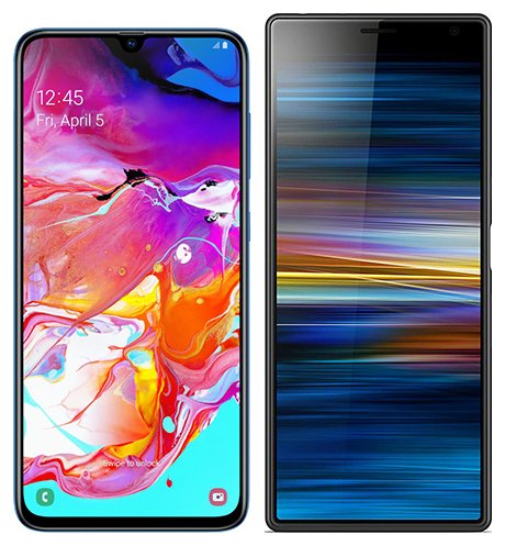 Smartphonevergleich: Samsung galaxy a70 oder Sony xperia 10 plus