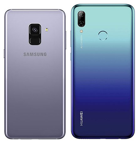 compare smartphones samsung galaxy a8 vs huawei p smart. Black Bedroom Furniture Sets. Home Design Ideas
